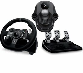 Sealed Logitech G920 gaming wheel + shifter