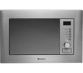 New HOTPOINT MWH1221X Built-in Microwave with Grill Stainless Steel 20L 800W Was: £149.99