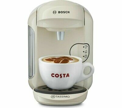 NEW! TASSIMO Hot Drinks Machine by Bosch Vivy2 - Cream - Currys