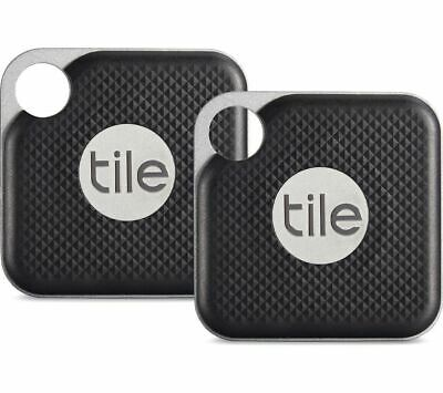Tile Pro Duo GPS Bluetooth Tracker Key Finder Locator - iPhone Android - 2 Pack
