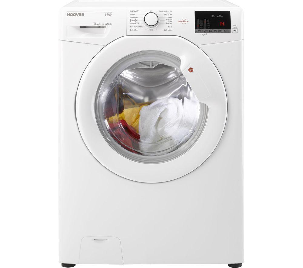 Hoover Link Hl 1682d3 1 80 8kg Freestanding Washing Machine White Hotpoint Aquarius Wiring Diagram Stock Photo