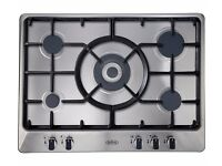 BELLING Gas Hob 5 burners Wok burner Auto ignition 70 cm Stainless Steel GHU70GC