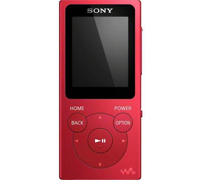 Sony NWE394R.CEW Walkman MP3 Player with FM Radio, 8 GB - Red
