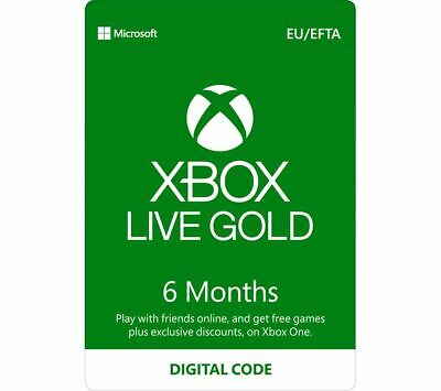 Xbox Live 6 Month Gold Membership Code Xbox One (EU/UK)