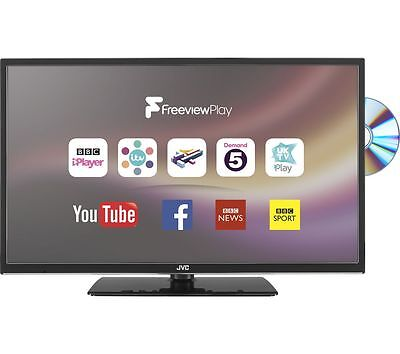 "JVC 32"" Inch SMART LED LCD TV DVD Combi, Freeview HD, WiFi, USB Record & Play"