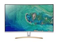 BRAND NEW MONITOR - ACER ED323QURwidpx QUAD HD 31.5inch CURVED VA LCD - COST £380 - ACCEPT £220