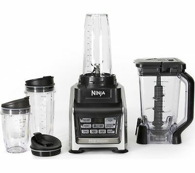 NINJA Nutri Ninja Duo BL642UK Blender - Black & Silver - Dishwasher safe parts