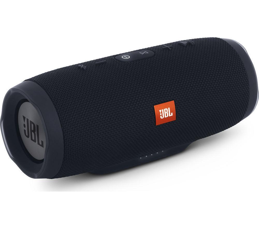 JBL Charge 3 Portable Bluetooth Speaker- Black