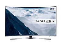SAMSUNG 55 SMART 4K ULTRA HD HDR CURVED LED 1600HZ VOICE CONTROL FREESAT & FREEVIEW HD