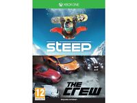 steep & the crew full game dl codes ! xbox one ! price stands , no offers !