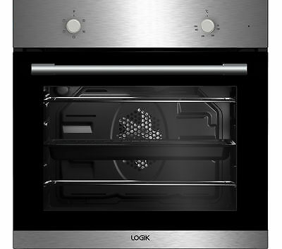 LOGIK LBFANX16 66 Litre Built in Electric Single Fan Oven Stainless Steel