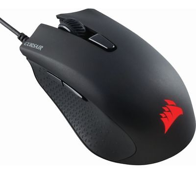 Corsair Harpoon RGB Optical Gaming Mouse (6000 DPI Optical Sensor, Lightweight, 6 Programmable Buttons, RGB Multi-Colour Backlighting, Xbox One Compatible) - Black