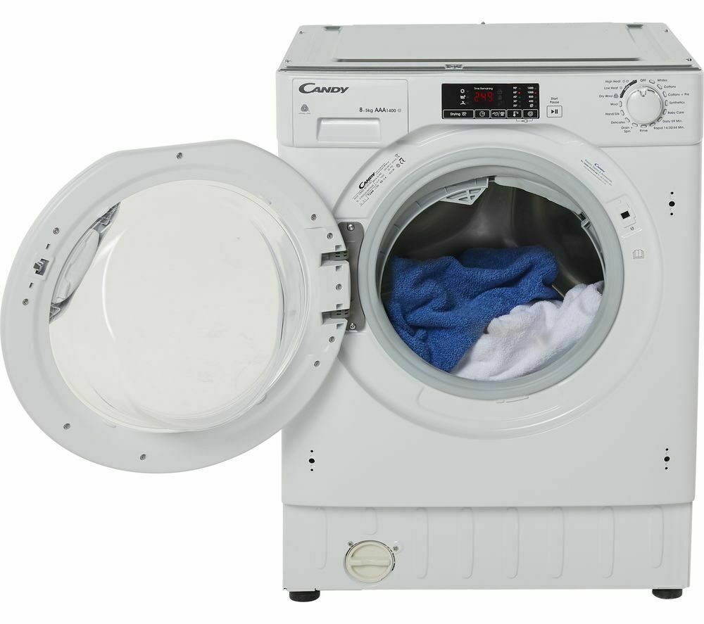 New CANDY CBWD8514DC Integrated Built-In 8kg/5kg Washer Dryer White - DELIVERY