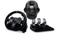 Logitech g920 +gear stick in box Used 3 times Xbox one/pc