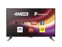 """JVC 42"""" 4K ultra HD wifi TV"""