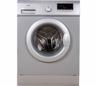 LOGIK L814WMS17 8 kg 1400 Spin Washing Machine - Silver - Currys