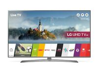 "LG 49UJ670V LED HDR 4K Ultra HD Smart TV, 49"" with Freeview Play & Crescent Stand, UHD"