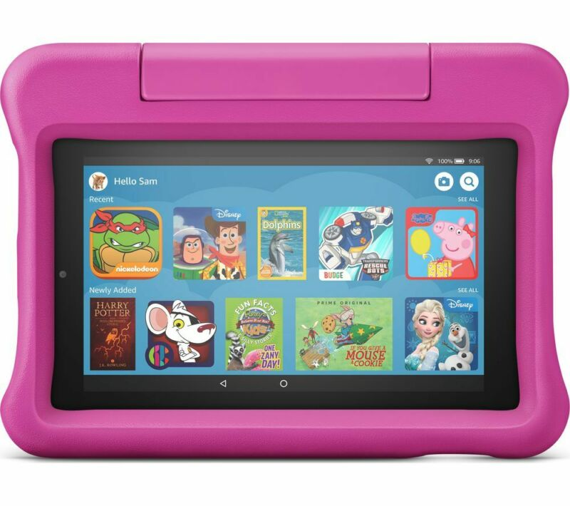 AMAZON+Fire+7+Kids+Edition+7%22+Tablet+%282019%29+-+16+GB+Pink+-+Currys