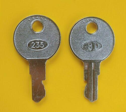 BD 235 Cash Drawer Keys for HP, Sam4s, NCR, Touch Dynamic Wasp POS, CRS Register