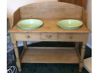 Double Edwardian Washstand, Antique Pine