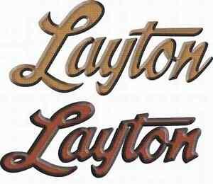 """décalque Layton 32"""" x 15"""""""