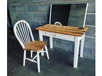 Pretty shabby chic rustic dressing table set