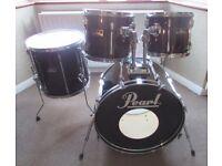 PEARL Drum Kit Shell Pack in BLACK Export Series