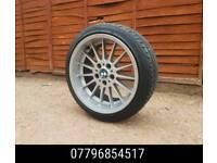 18 Inch Staggered Genuine Deep Dish Bmw Style 32 Alloy Wheels & Tyres - e36 e46 e38 e60 -