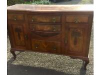 Walnut bedroom furniture and sideboard - Early 1900's - Delivery locally. (Worcester).