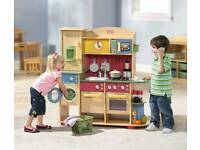 Brand New Boxed Little Tikes Premium Wooden Cookin Creations Play Kitchen