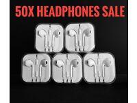 Joblot Wholesale 50x Earphone headphone Apple iPhone 6 /6 5 /5s EarPod Headphone With Mic 50x