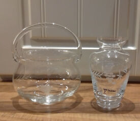 **** JUST REDUCED ***2 beautiful matching pieces of top quality expensive Duishe irish handcut glass