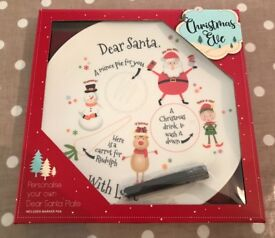 Santa Christmas Eve personalised plate
