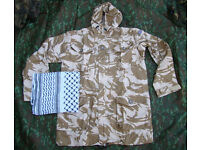 British Army Soldier2000 Issue Desert Pattern Windproof Smock - Large + FREE Shemagh Scarf