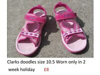 Girls summer/holiday shoe selection