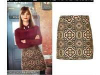 Topshop size 8 mini skirt folk jacquered