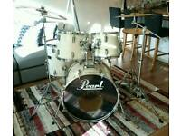 Pearl Export Drum kit - Sabian B8 cymbal set - Stool in very good condition