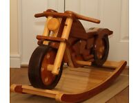 "Hand-made solid wood childs Motor Cycle / motor bike ""rocking horse"""