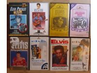 ELVIS PRESLEY,JOB LOT OF 8 (EIGHT) VHS TAPES, TOP CONDITION.SOME ELUSIVE. £ 10.