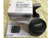 Canon EF-S 15 to 85 mm f/3.5-5.6 IS USM Image Stabilizer Lens
