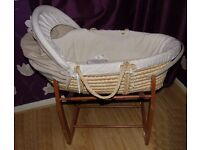 BABY MOSES BASKET / ROCKING COT WITH STAND