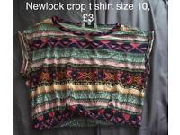 Newlook crop t shirt size 10