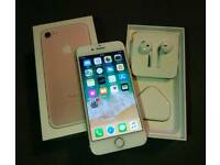 iPhone 7 rose gold in perfect condition