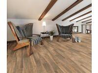 TILES JOB LOT 08: Oak look brown wood effect tiles, 10 square metres