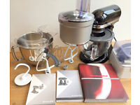 KitchenAid Artisan Mixer with Glass bowl, Food Processor and Flexi Beater