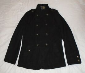 Black 'Red Herring' Wool & Polyester Coat (small)