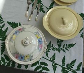 Dinnerware / crockery - Pretty vintage/antique tureens
