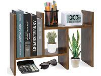 Desktop Organiser Office Storage Rack Adjustable Wood Desk Organizer Display