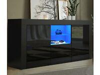 *BRAND NEW* Modern TV Cabinet Sideboard Unit Cupboard - Black