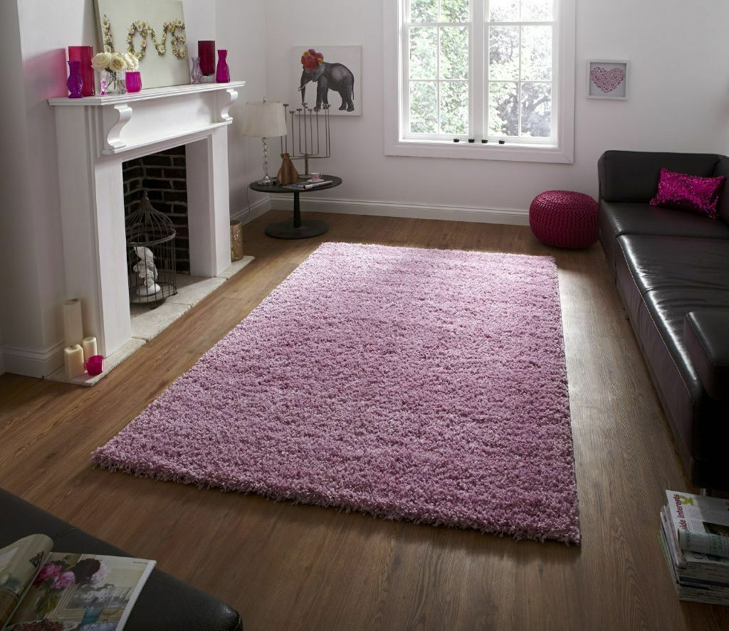 Ikea Adum Rug Light Brown Pink: Large Ikea Pink High Pile Rug